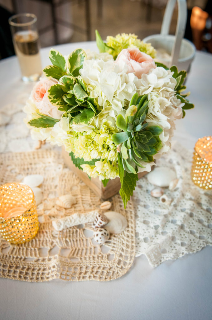 Peach and green wedding flowers, Sticks, Photo by MaggieGPhoto