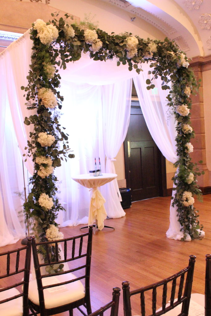 Chuppah at Temple for Performing Arts Des Moines