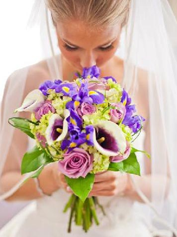 Sample Text of bride's flowers